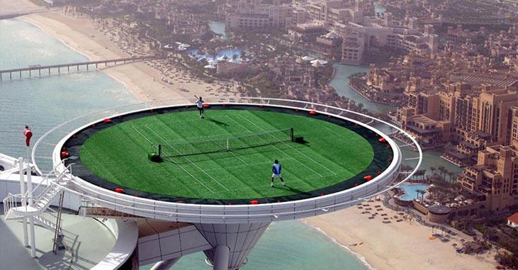 Tennis on Helipad
