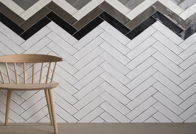 Wall Tile Designs To Impress The Neighbours - 45 degree herringbone tile pattern