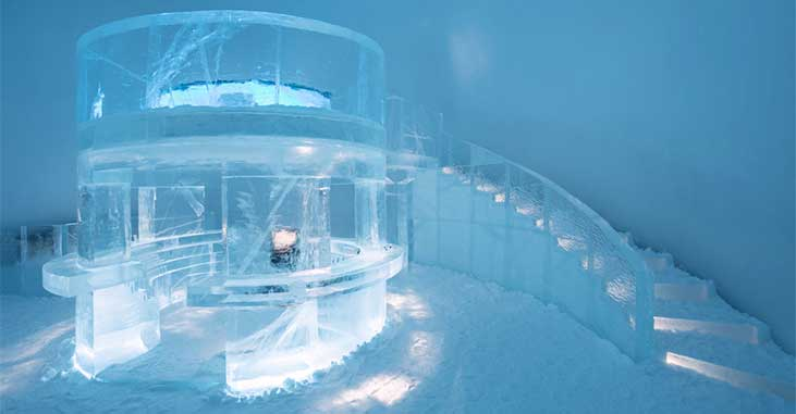 Icehotel - Staircase
