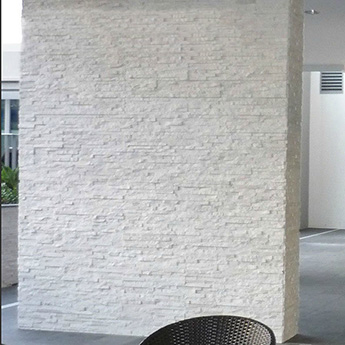White Cladding Rock Panel
