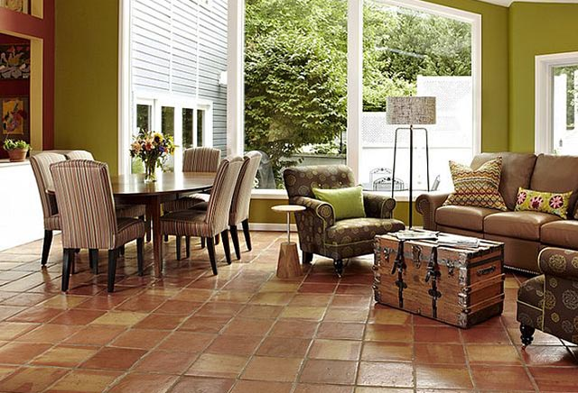 Terracotta Living Room Tiles