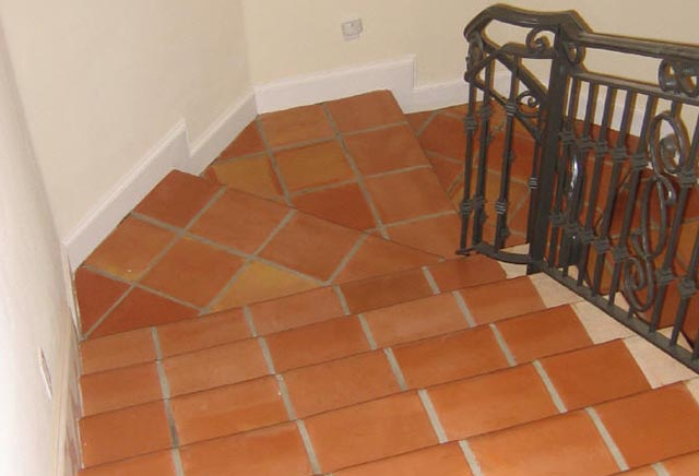 Terracotta Staircase Tiles