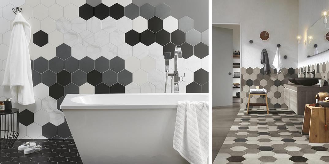 Hexagon Wet Room Tiles
