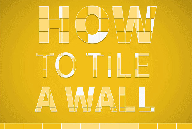 How to tile a wall - Tilesporcelain