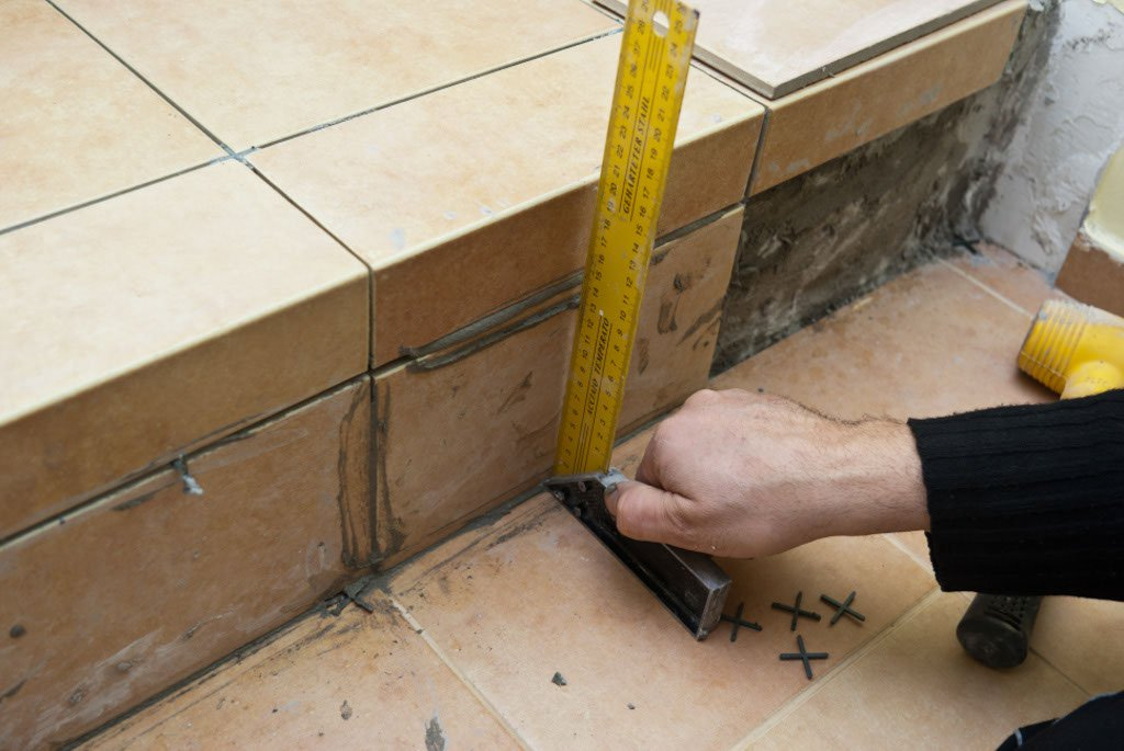 How to tile a floor diy tilesporcelain - How to tile concrete stairs ...