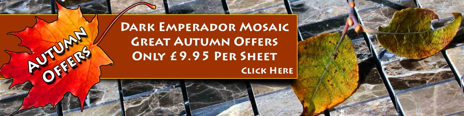 November Sale, Autumn Bargain -Dark Emperador