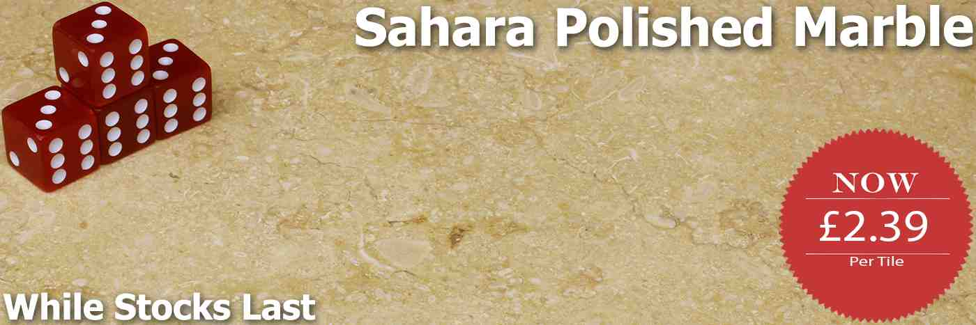 Massive discounts on these Sahara Cream Marble Tiles