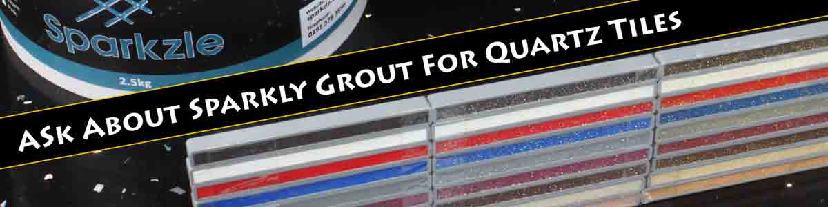 Sparkly Grout for Quartz - This April