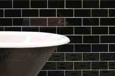 Black Bathroom - Brick Effect