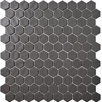 Hexagon Nature Black Mosaic