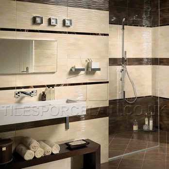 Hall 36B Beige Ceramic Used in a Bathroom
