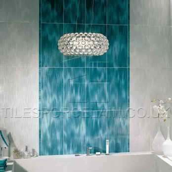 Hall Blue Bathroom Using 36DL Wall Tiles