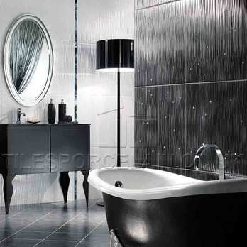 Hall Black Bathroom with 36N Ceramic Wall Tiles