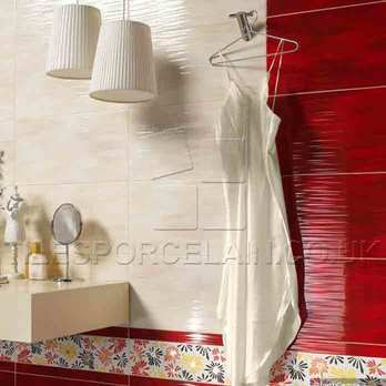 Hall Red Bathroom Wall Tiles 36R