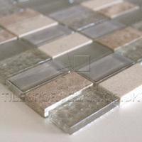 Light Beige Glass Mosaic