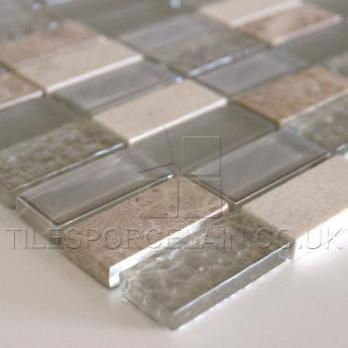 Light Beige Glass Mosaic
