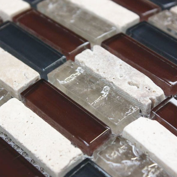 Accord Sepia Brown Mosaic Tiles