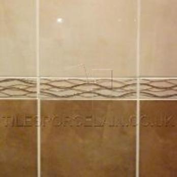 Aspendos Ripple Beige Border Ceramic Tiles