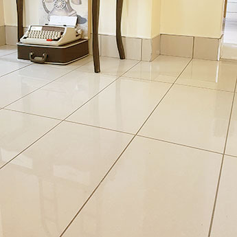 Light Creamy Polished Porcelain Tile