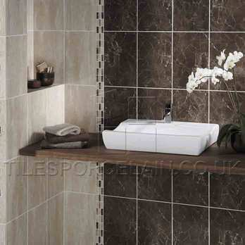 Elgin Brown Cream Beige Border Tiles