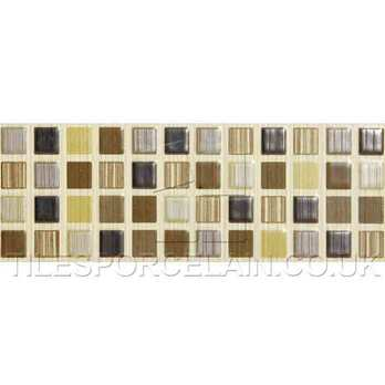 Brown Strip Beige Cream Willow Ceramic Tiles
