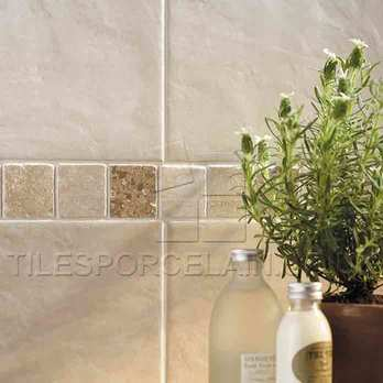 Marble Beige Strip Cream Brown Buxton Border Tiles