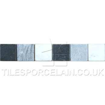Black White Grey Buxton Border Ceramic Tiles