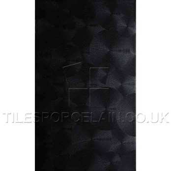 Metallic Black Saturn (circular Texture) Ceramic Tiles