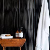 Form Wave Gloss Black Tiles