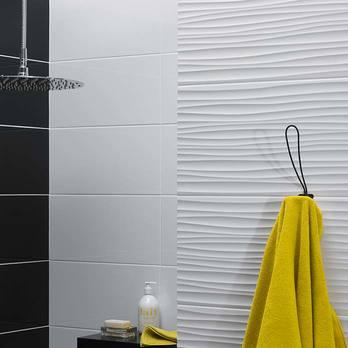 Form Wave White Gloss Ceramic Tiles Bct19946