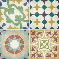 Parian set of 12 Multiuse Coloured Decors Tiles