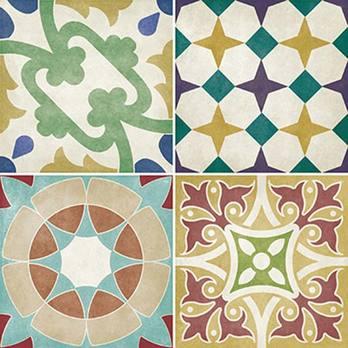 Parian Set of 12 Coloured Décor Tiles - BCT41948 – Tilesporcelain