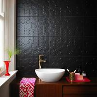Form Hex Black Matt Tiles