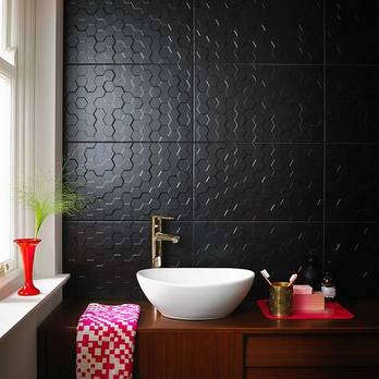 Form Hex Black Matt Ceramic Tiles Bct42150 Tilesporcelain