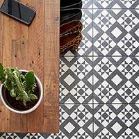 Feature Floors Monochrome Retro