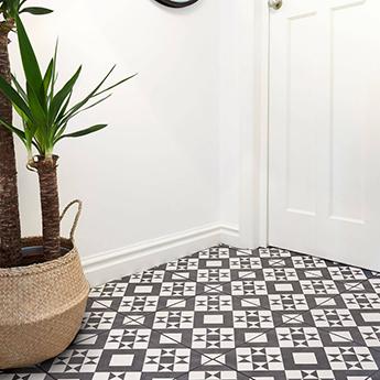 Feature Floors Monochrome Retro Tiles Bct53606