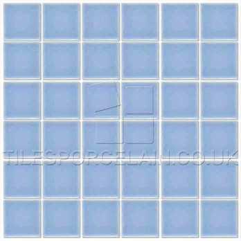 Pool Sky Blue Mosaic Tiles