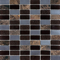 http://www.tilesporcelain.co.uk/Chocolate And Marble Mosaic