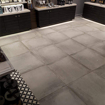 Concrete Light Grey Tiles