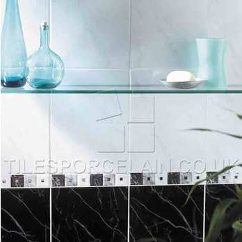 White Field Carrara Ceramic Tiles
