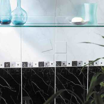 Black Carrara Ceramic Tiles