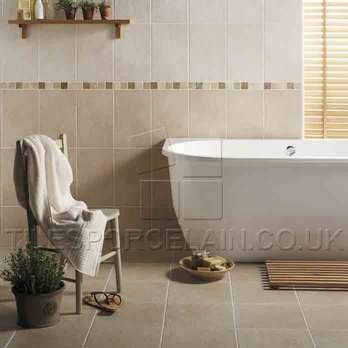 Dark Beige Field Cream Buxton Ceramic Tiles