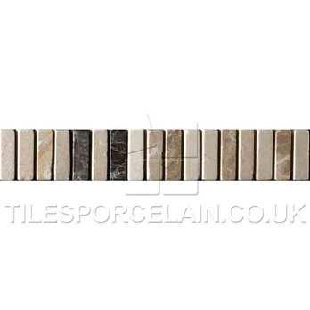 Dartmoor Naturals Mosaic Beige Ceramic Border Tile