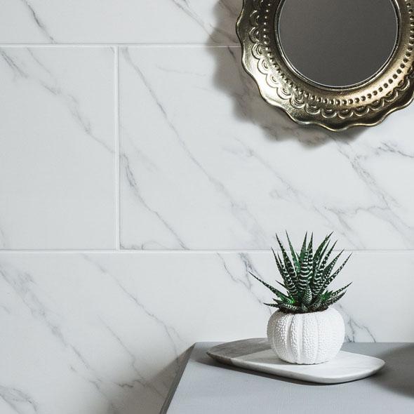 Classics Carrara Gloss Ceramic Tile