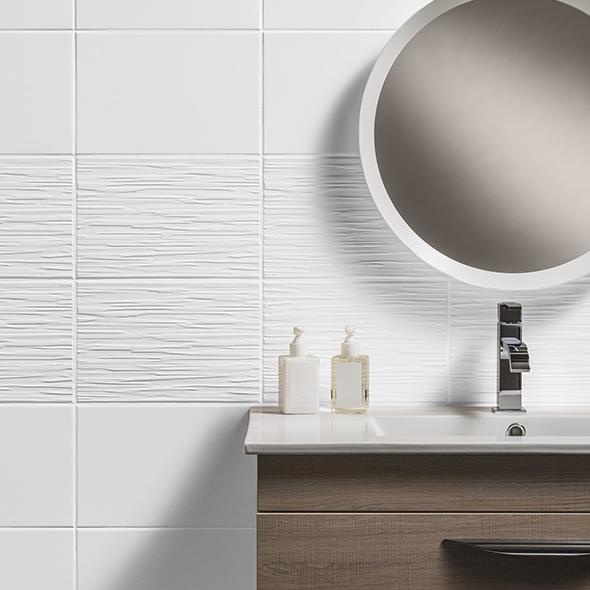 Classique White Satin Ceramic Tile