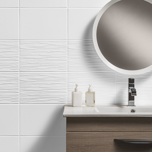 Classique White Satin Ceramic Tile Tiles