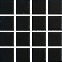 Ceramic Pool Matt Black Mosaic