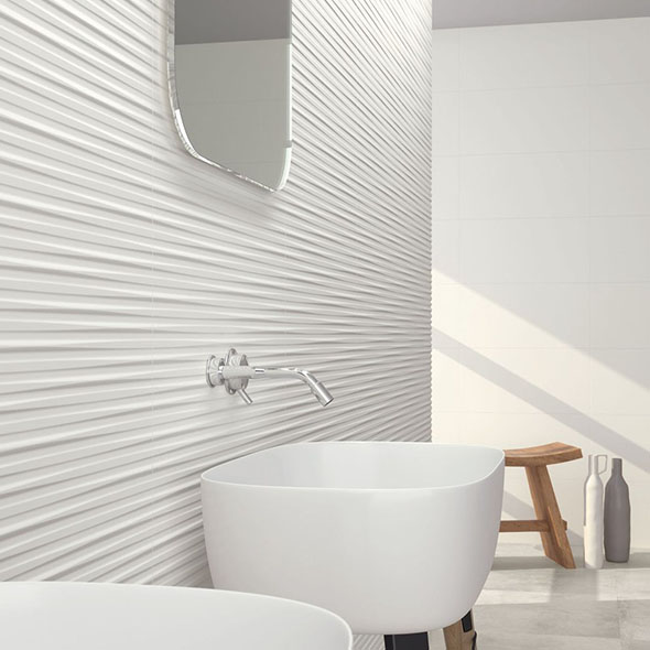 Eminence White Satin Wall Tiles