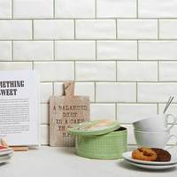Ondulato Blanco Matt Tiles
