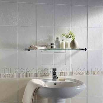 Laura Ashley Wiston White Ceramic Tiles